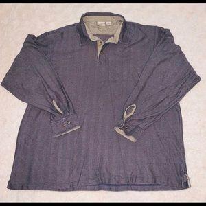 LLBean Herringbone Collared Shirt